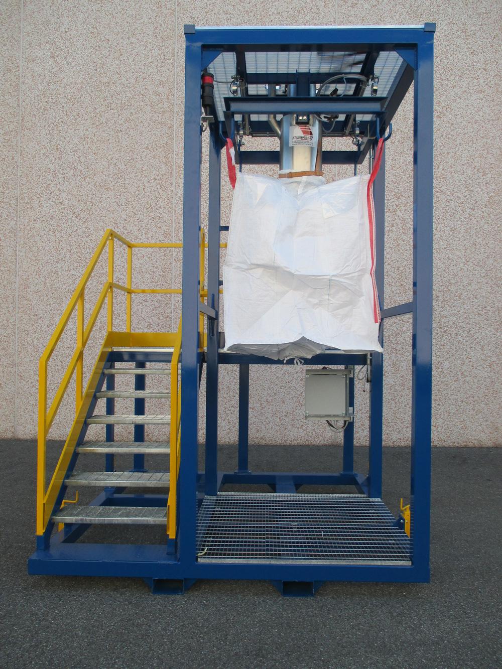 Sistema riempimento e pesatura big-bags