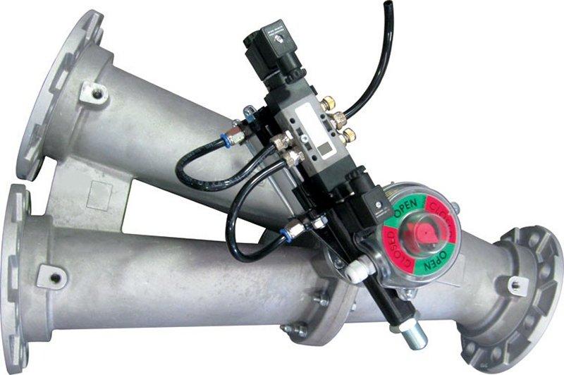 Deviatori per trasporto pneumatico